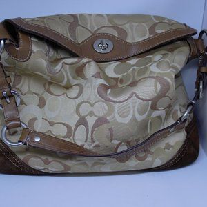 Coach Shoulder Bag Tan/Brown Large